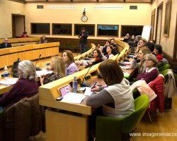 El público del seminario en la sala de conferencias del rectorado.